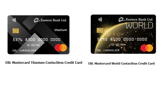 EBL launches two new contactless credit cards