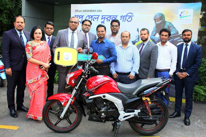 EBL hands over key to the first two wheeler loan customer