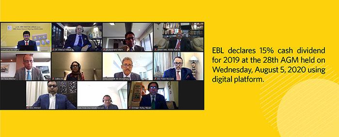 EBL declares 15% cash dividend